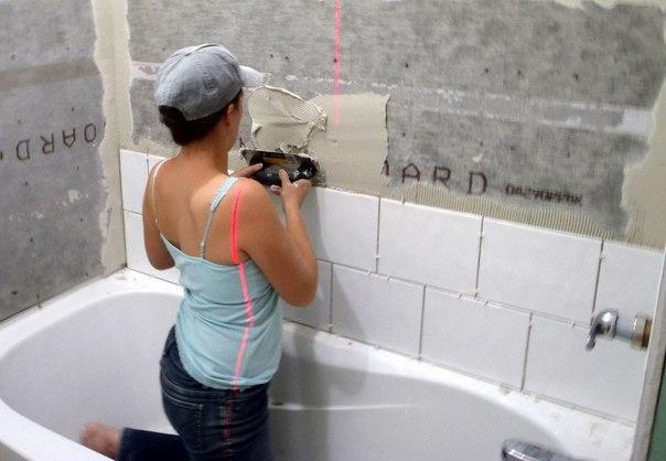 """Как снять плитку со стены """" Строительный портал стройка и ремонт Строительство дома своими руками"""